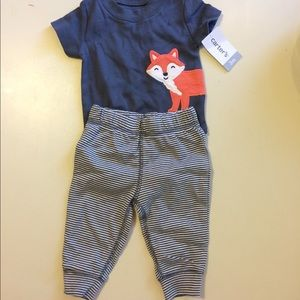 NWT Carters outfit onesie with pants